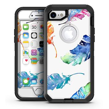 Watercolour Feather Floats - iPhone 7 or 7 Plus OtterBox Defender Case Skin Decal Kit