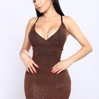 Love Drought Midi Dress - Copper