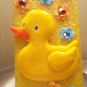 Rubber Ducky Glitter iPhone 4 4s Hard Cover Case by kaylafenton