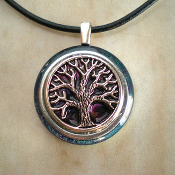 Tree of Life Necklace: Blue Violet - Tree Jewelry - Wiccan Jewelry - Celtic Jewelry - Celtic Necklace - Elemental Jewelry - Cute Jewelry