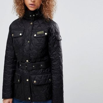 Barbour International Quilted Biker Jacket at asos.com