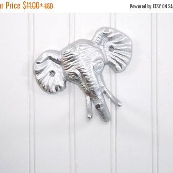 NEW YEARS SALE Elephant Hook/ Elephant Decor/ Nursery Wall Decor/ Animal Hook/ Safari Decor/ Jungle/ Towel Hook/ Kids Wall Hooks