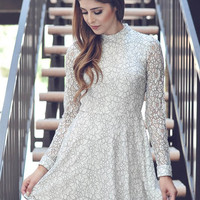 Winter White Lace Dress