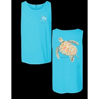 Sassy Frass Sea Turtle Comfort Colors Girlie Bright Tank Top T Shirt