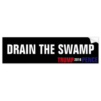 DRAIN THE SWAMP SUPPORT TRUMP BUMPER STICKER