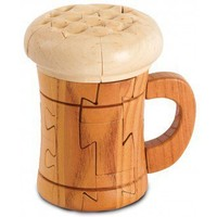 Wooden Beer Mug Puzzle