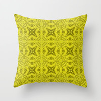 Yellow Showers of Flowers Throw Pillow by 2sweet4words