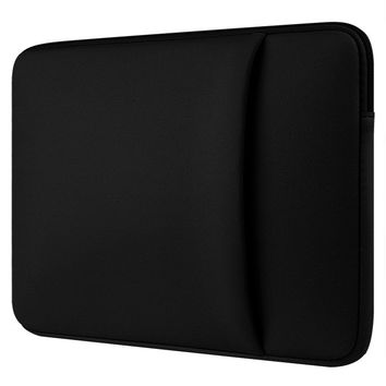 "Black Neoprene laptop notebook case sleeve bag Clutch Wallet Computer Pocket for Macbook Pro Air Retina 11"" 12"" 13"" 15"" 15.6"""