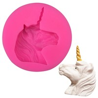 Unicorn soap silicone mold chocolate fudge cake decoration