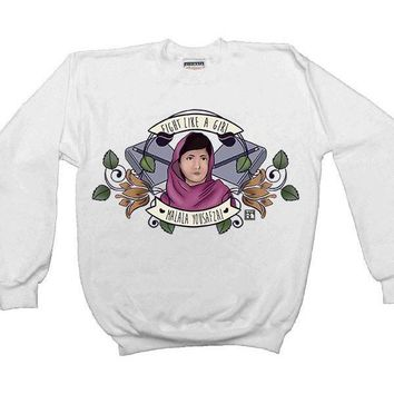 Fight Like A Girl (Malala) -- Unisex Sweatshirt