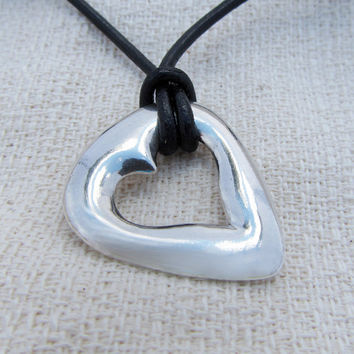 The Pick of Hearts in sterling silver