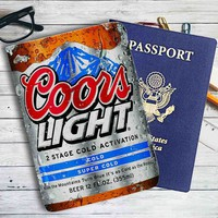 Coors Light Beer Cold Leather Passport Wallet Case Cover