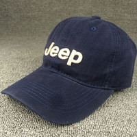 2016 Navy Blue Color Jeep Embroidered Baseball Cap Hat