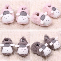 Lovely Baby Boys Girls Winter Warm Plush Booties Infant Soft Slipper Crib Shoes 0-12M