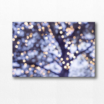 bokeh photography canvas print abstract canvas 12x18 24x36 fine art photography lights canvas wrap large scale purple canvas print lilac art