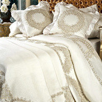 Debage Inc. Lace Wreath 6 Piece Duvet Set