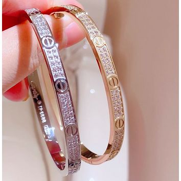 Cartier High Quality Fashion New More Diamond Women Bracelet