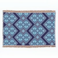 Dark Blue Cross-stitch Ukraininan pattern