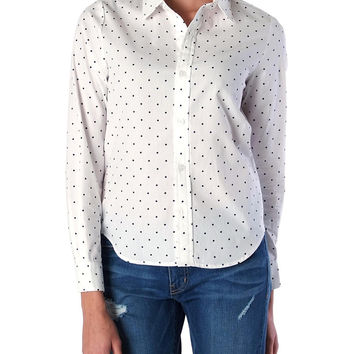 Blending In Oxford Shirt - White