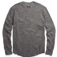 Heather Double Knit Long Sleeve in Grey Heather