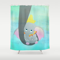dumbo and his mom Shower Curtain by Studiomarshallarts
