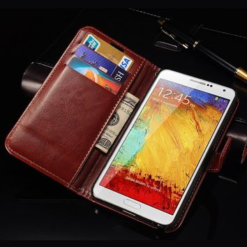 Case For Samsung Note 3 Flip Cover Wallet PU Leather Case for Samsung Galaxy Note 3 III N9000 Phone Stand Design With Card Slot
