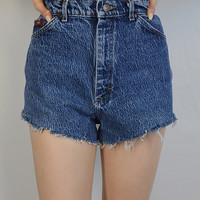 90s High Waist Shorts Acid Wash 27 28 Soft Grunge Mom Jean Denim Preppy Hipster Womens Vintage Clothing Retro Cute Booty Shorts
