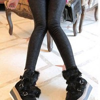 *Free Shipping@ Black Lace Legging One Size QZK11926b from efoxcity