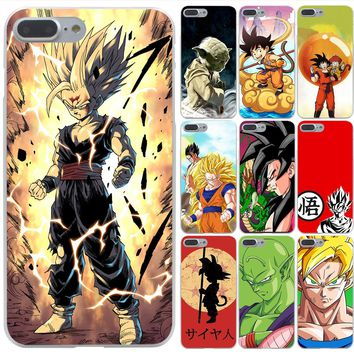Lavaza Dragon Ball z super Goku Hard Phone Case for Apple iPhone 6 6s 7 8 Plus 4 4S 5 5S SE 5C Cover for iPhone XS Max XR Cases