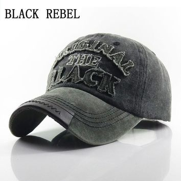 Trendy Winter Jacket Black Rebel  Men's Baseball Cap Women Snapback Hats For Men Bone Casquette Hip hop Brand Casual Gorras original black Hat Caps AT_92_12