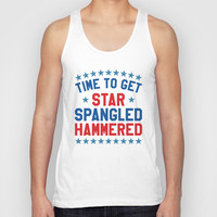 Time to Get Star Spangled Hammered - Fourth of July / 4th of July Unisex Tank Top by CreativeAngel