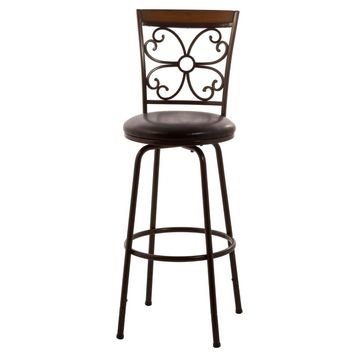 5431-830 Garrison Swivel Bar Stool with Nested Leg