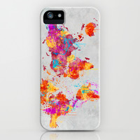 Mother Earth Crying iPhone & iPod Case by Maximilian San