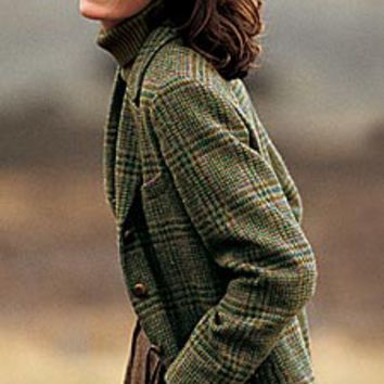Irish Tweed Jackets Ladies / Castle Island Tweed Plaid Jacket -- Orvis