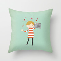 Love Songs Throw Pillow by Rosy Designs