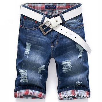 Men Shorts Brand Summer New Men Jeans Shorts Plus Size 40 Fashion Designers Shorts Cotton Jeans Men's Slim Jeans Shorts Men