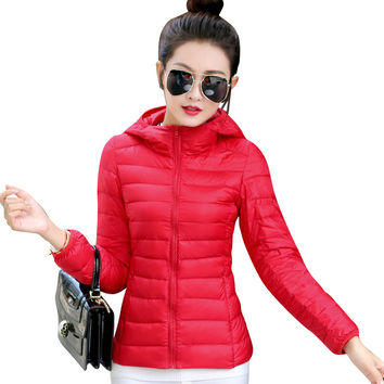 2017 jackets women autumn winter  Fashion Casual Basic jacket Cotton coat female jacket parka Wadded Slim Short outwear