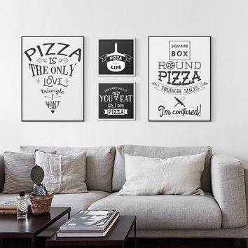 Modern Pizza-Canvas Posters