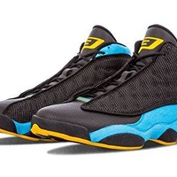 "Nike Mens Air Jordan 13 Retro CP PE ""Chris Paul"" Black/Sunstone-Orion Blue Leather"