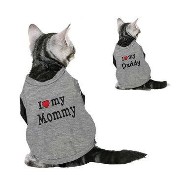 Print Mommy Daddy Cotton T Shirts