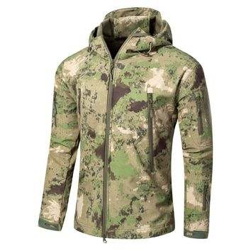 A TACS FG Camouflage Army Jacket Men Military Shark V4.5 Waterproof Soft Shell Outdoors Jackets Fleece Camo Hunt Clothes