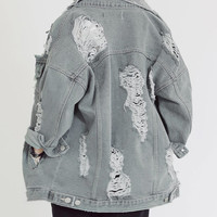 Denim jacket - Get Stoned - Denim jackets - Jackets & Outerwear - Women - Modekungen