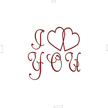 Free Shipping I love You Valentines Day Love Heart Cupid Vinyl wall decals DIY room décor