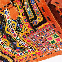 Rugged Genuine Handmade LEATHER BAG  gypsy bags Banjara leather bags Shoulder, Carry on, Overnight, Duffle, , 100% Waterproof Saddle Leather