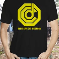 obsessive cat disorder cat shirt; ocd cat tshirt; ocp shirt cat tee; cat; cat shirt; cat lover; novelty shirt; funny shirt; statement shirt