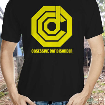 obsessive cat disorder cat shirt; ocd cat tshirt; cat tee; cat; cat shirt; cat lover; novelty shirt; funny shirts; statement tshirts
