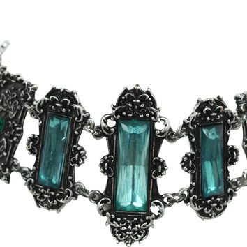 Gothic Choker Vivian Mint Green Choker Necklace Gothic Elegant Victorian Jewelry