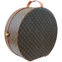 Louis Vuitton Boite Chapeaux Hat Box 50cm XL Round Monogram Travel Bag 1970s