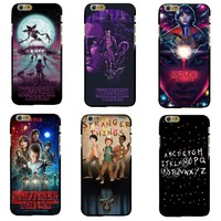 TV Stranger Things Pattern Case For iPhone 6 6S 7 8 Plus X 5 5S SE Black Soft Silicone Phone Cases Cover For Fundas iphone 7Plus