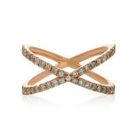 Shorty 18K Rose Gold and Diamond Ring | Moda Operandi